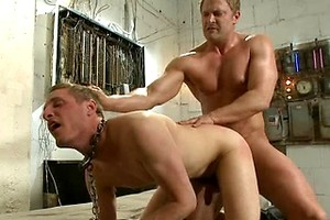 A Pervert Electrician and His Bound Hung Stud