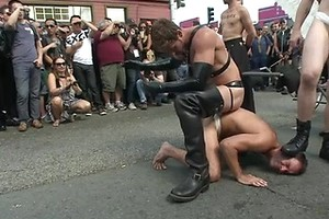 Folsom Street Whore tormented in front of thousands of people